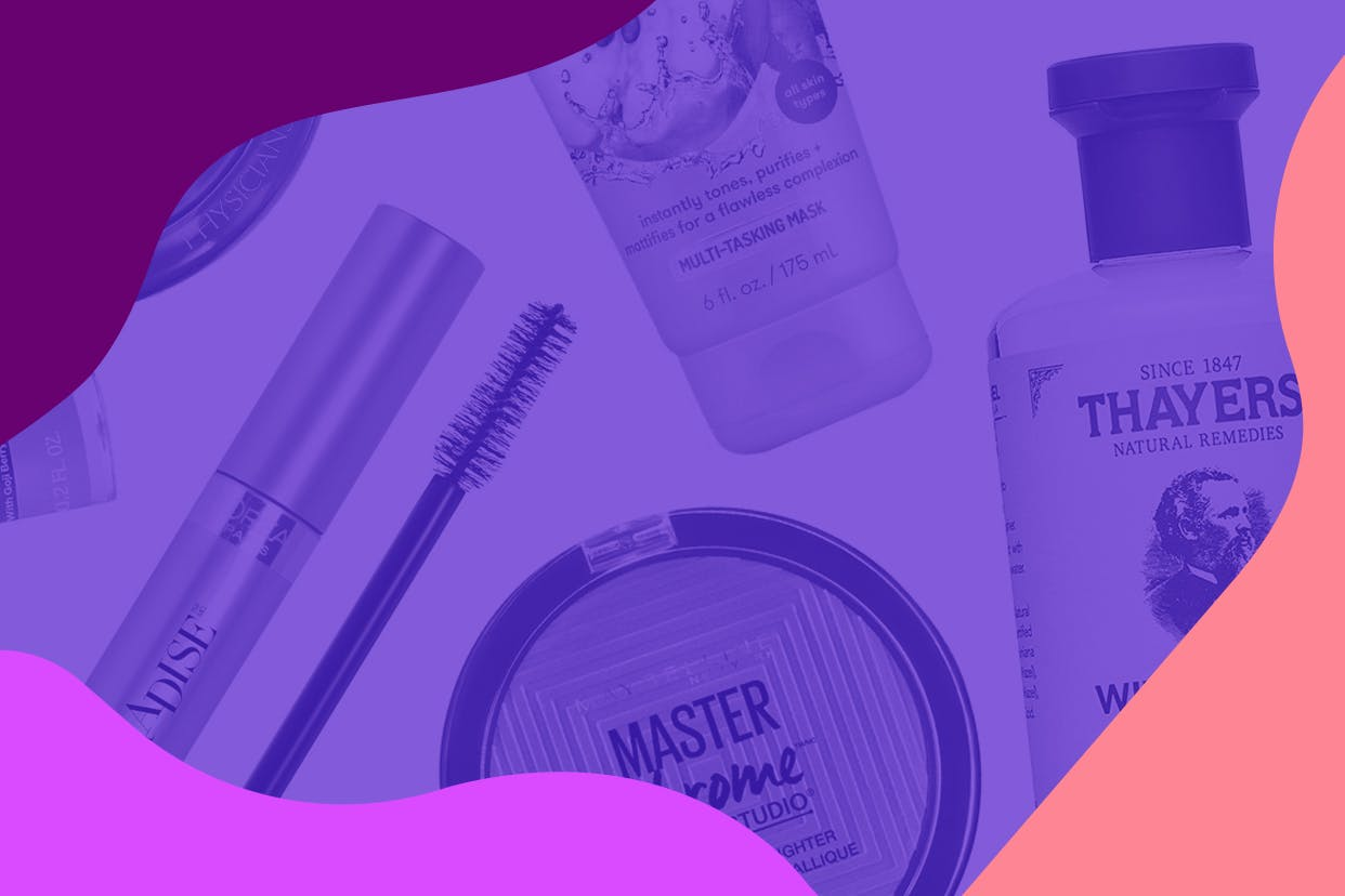 Drugstore makeup and skincare products