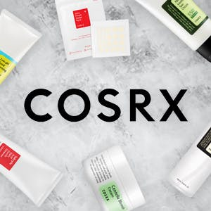 COSRX products on an ice background