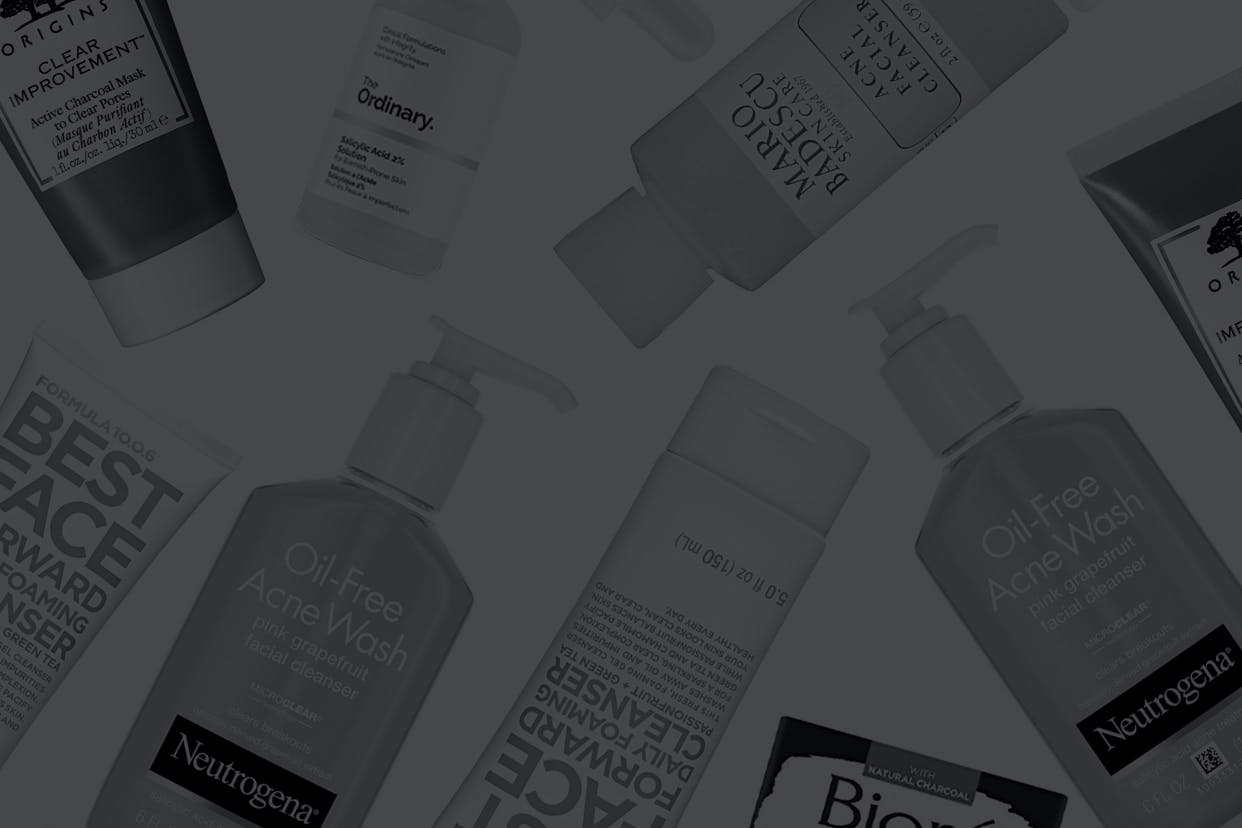 Scattered blackhead clearing products