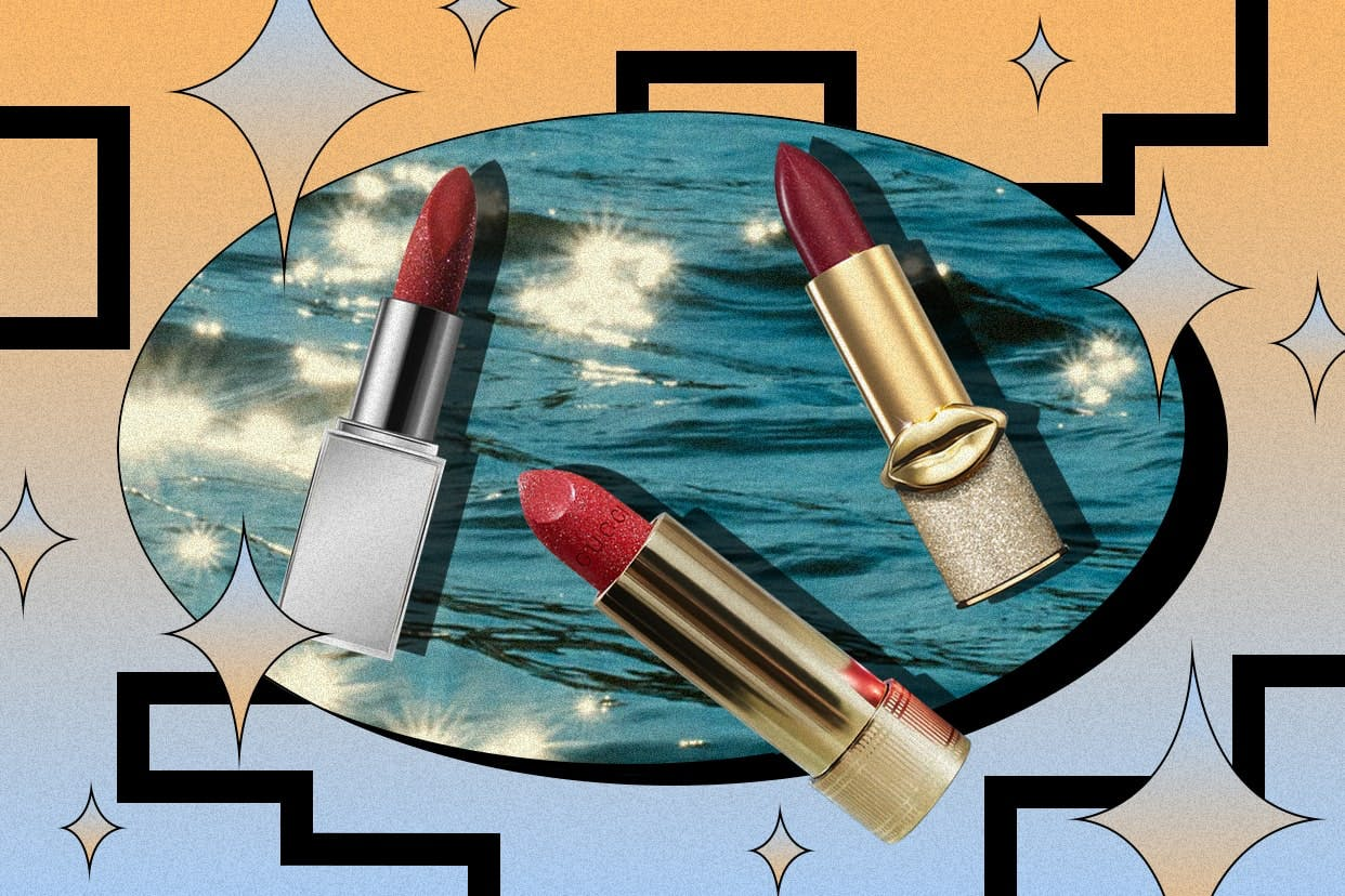 glitter lipstick by tom ford, gucci, and pat mcgrath labs
