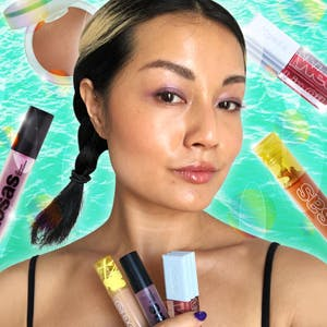 Beauty writer Sable Yong with Kosas products