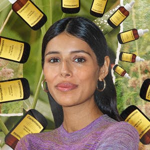 Babba C Rivera with her Ceremonia hair scalp oil