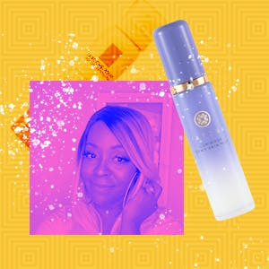 Face mists on a yellow background